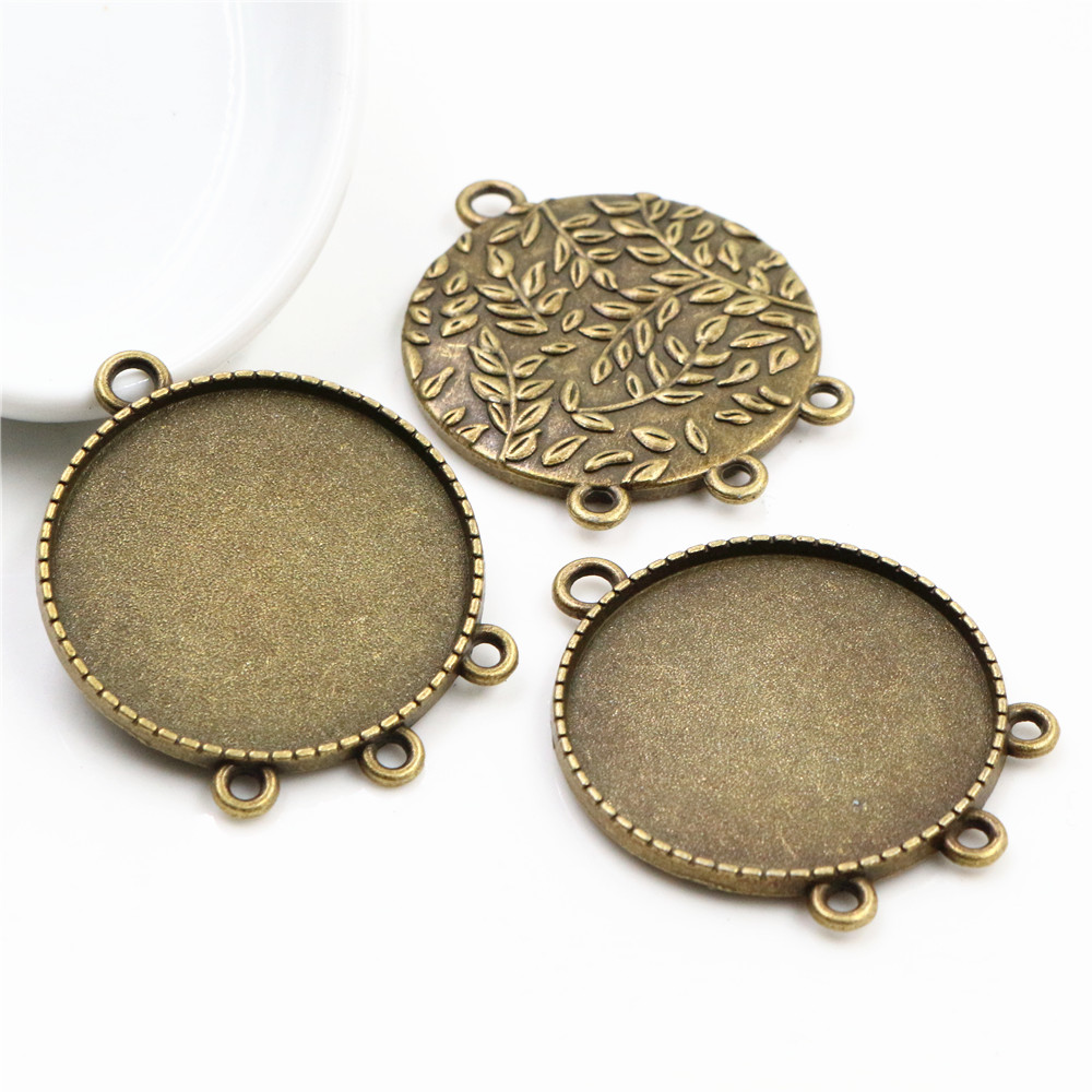 5pcs 30mm Inner Size Antique Bronze Classic Style Cabochon Base Setting Charms Pendant (B6-31)