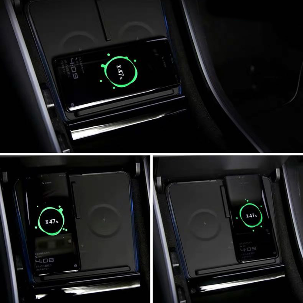 For Tesla Model3 Wireless Charger 10W Fast Charge Car Charging Pad 3 Interface Wireless Charging Pad High Quality