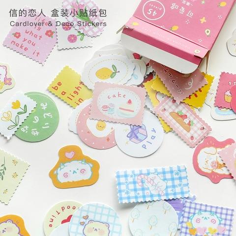 20 conjunto 1 lote kawaii papelaria adesivos bonito polysalt diario decorativo movel adesivos scrapbooking diy