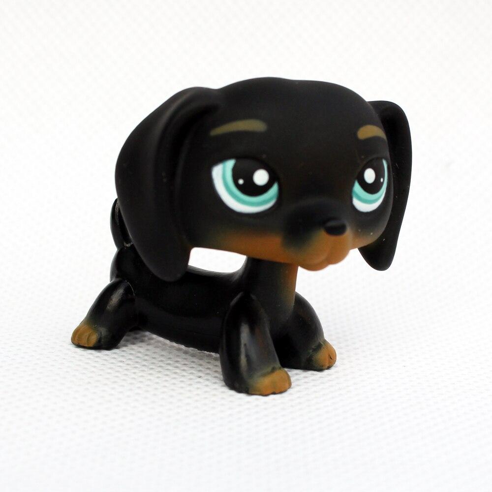 Rare Animal Pet Shop Toys DACHSHUND #325 Mini Black Sausage Dog Kids Toy Gifts Old Original Free Shipping