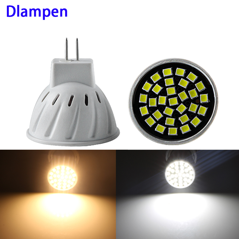 led bulb GU4 MR11 mini spotlight 110v 220v 3W super ceiling bulb 2835 30 leds energy saving lamp spot lighting Replace Halogen