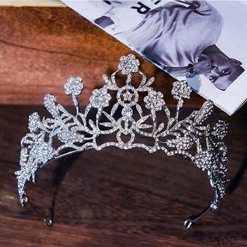 HG11590 European and american bridal hairpiece high end rhinestone wedding headpiece flower princess wedding crown tiara недорого