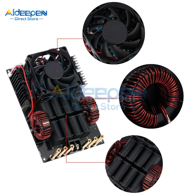 DC 12V-40V 50A 1000W 1KW ZVS Low Voltage Induction Heating Machine Board Module High Frequency 1000W High Voltage Generator