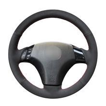 Hand Sew Black Suede Car Steering Wheel Cover for Mazda 3 Axela 2004-2009 5 2004-2010 6 Atenza MPV