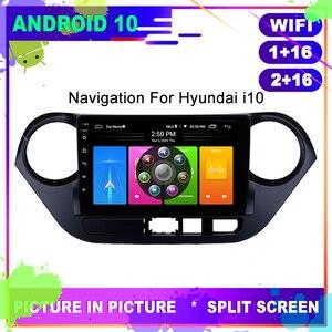 OTOJETA Car Radio Android 10 GPS Navigation for HYUNDAI i10 2013 2015 Head Unit USB Stereo Multimedia Player Internet Full Touch
