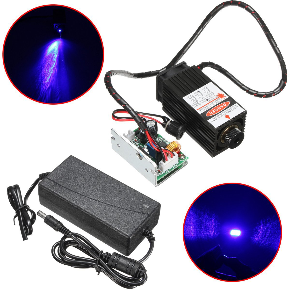10W Laser Head Engraving Module 450nm Blue Light Marking Engraver With TTL Modulation DIY Diode Metal Marking