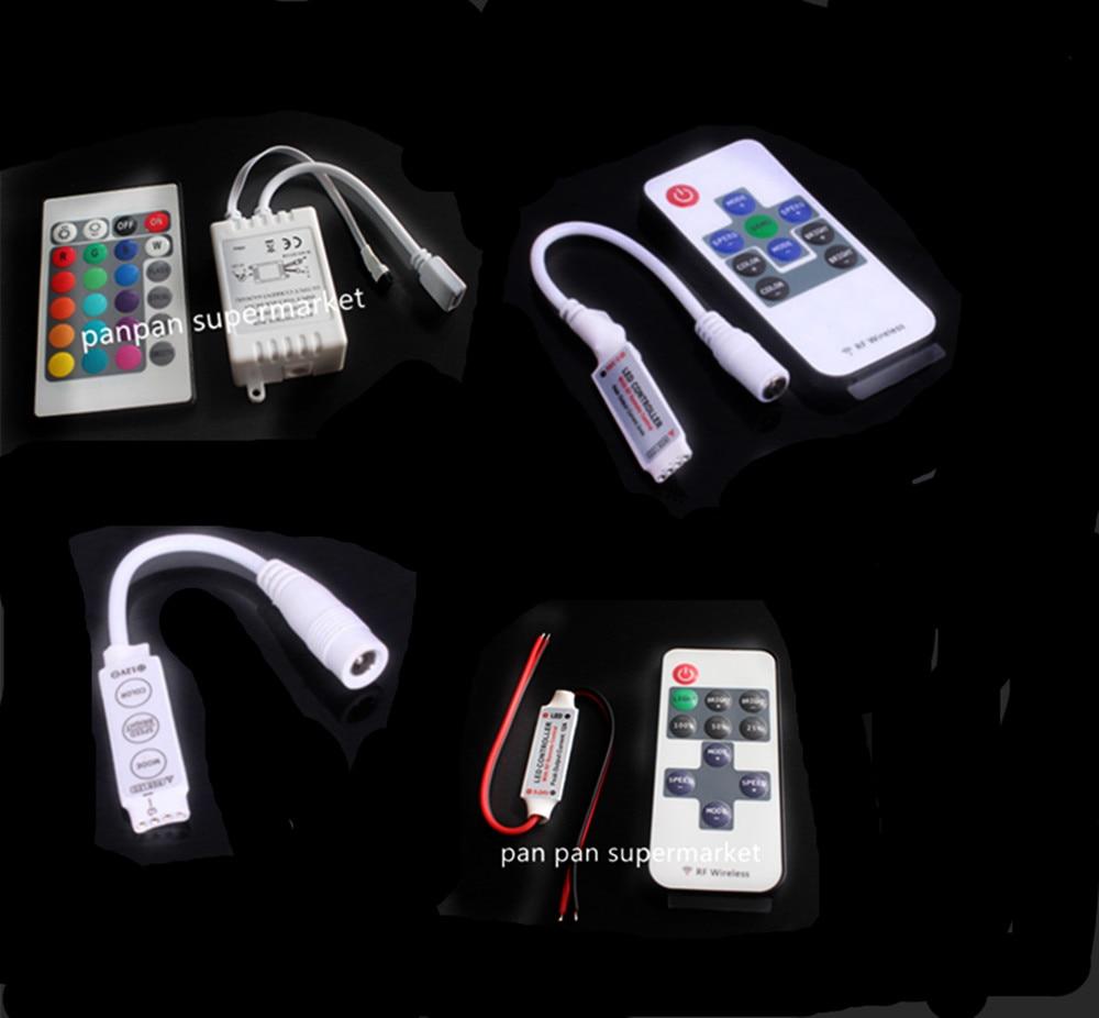 Светодиодные ленты светильник Mini 3/11/17/24/40/44 ключ ИК Удаленный беспроводной контроллер Wi-Fi светодиодный Панели управления RGB DC12V мини Wif для 3528...