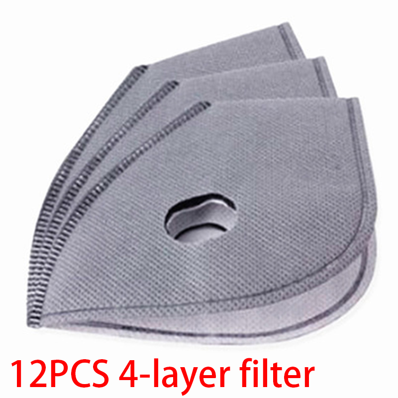 12pcs Non-woven Active Carbon Filters Kit 4 Layers PM2.5 Anti Smoke Dust Air Purifying Active Carbon Filters Protector