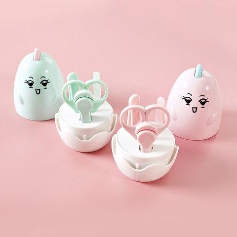 4 pcs set tesouras do prego do bebe lindo conjuntos trimmer cuidados cortador de unhas