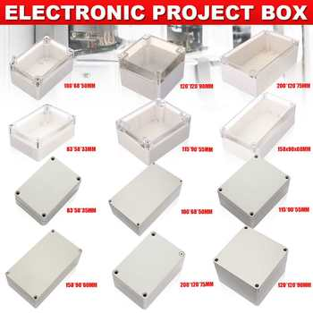 6 Size Waterproof Plastic Enclosure Box Electronic Project Instrument Case Electrical Project Box Outdoor Junction Box Housing