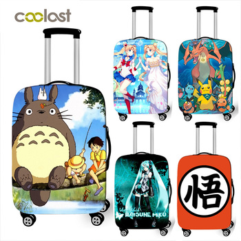 Japanese Anime Totoro Print Luggage Cover Travel Accessories Elastic Suitcase Covers 18 - 32 Inch Trolley Case Protective Cover