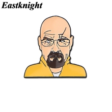 K1387 Eastknight breaking Bad Cartoon Pins Enamel Pins TV Brooch Friends Badge Denim Shirt Lapel Pin Jewelry Gift for Fans 20 dnd enamel pins custom game brooch lapel pin shirt bag badge dragon and dungeon jewelry gift for fans friends
