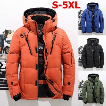 Winter Jacket Mens High Quality Warm Thick Zipper Male Cotton Jacket Plus Size Detachable Men Snow Parka Jacket Overcoat
