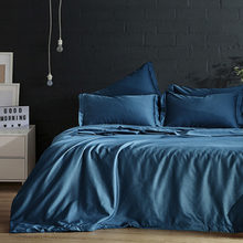 Yimeis Comforter Bedding Sets Queen Solid Color Blue Bedding Sets Modern Luxury Sheet Set BE45105(China)