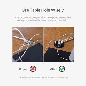 Image 3 - ORICO 데스크탑 그로멧 USB 3.0 허브 (헤드폰 마이크 포함) 포트 유형 C 허브 OTG 어댑터 분배기 (노트북 액세서리 용)
