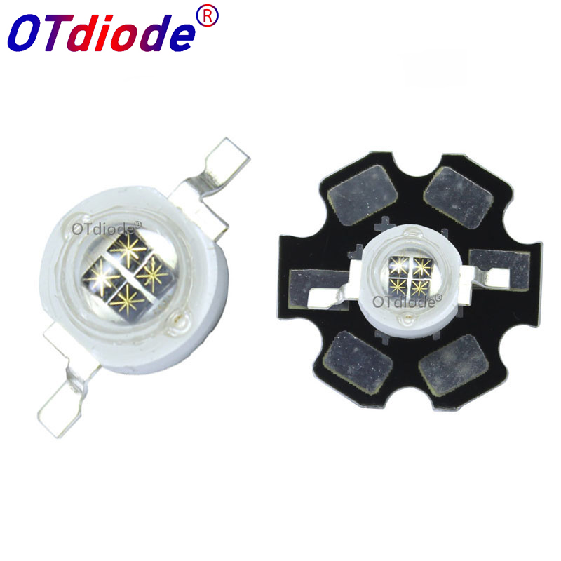5W Infrared IR 940NM High Power LED Bead Emitter 4 Chip DC1.4-1.7V 1400mA With 20mm PCB For Night Vision Camera