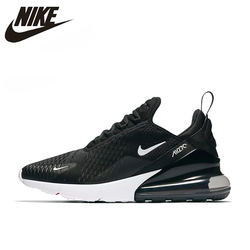 Женские кроссовки для бега Nike AIR MAX 270, черные Нескользящие износостойкие легкие спортивные кроссовки, AH6789-001