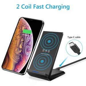 Image 5 - Drahtlose Ladegerät 15W QI Schnelle Drahtlose Ladestation Für Samsung S10 Plus S9 S8 Hinweis 10 9 8 Huawei xiaomi iPhone 11 XR XS Max X