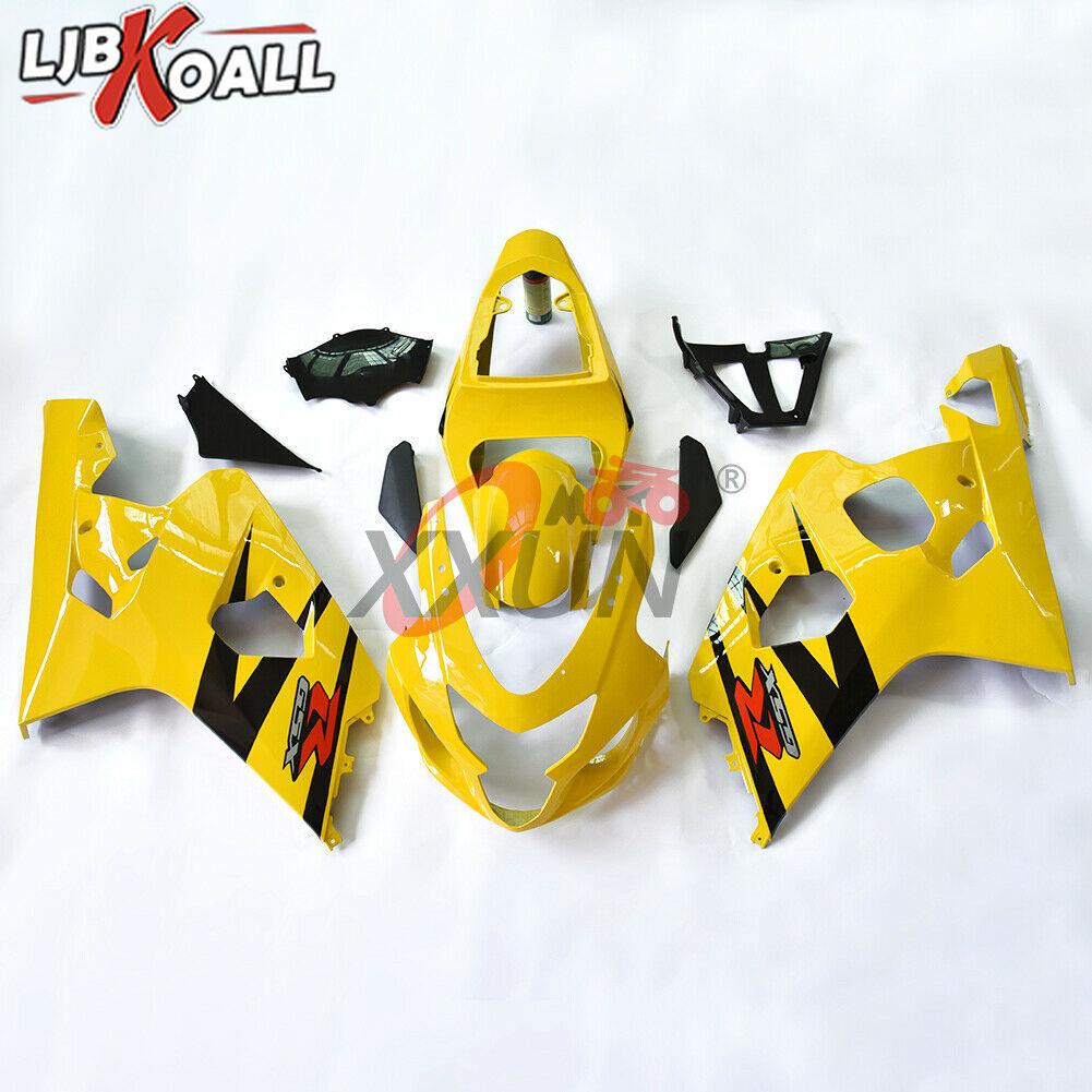 GSXR600 GSXR750 впрыск обтекателя кузова рамка Боковая панель крыло для Suzuki gsx r 600 GSXR 750 2004 2005 желтый черный