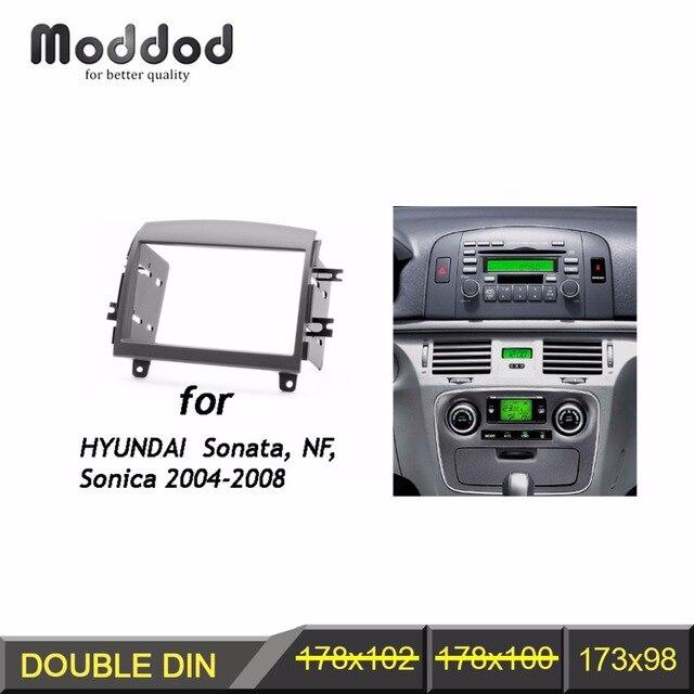 Fascia de Radio Din doble para HYUNDAI Sonata NF Sonica, embellecedor de Audio CD DVD, Kit de reacondicionamiento de salpicadero, Marco envolvente de cara, bisel