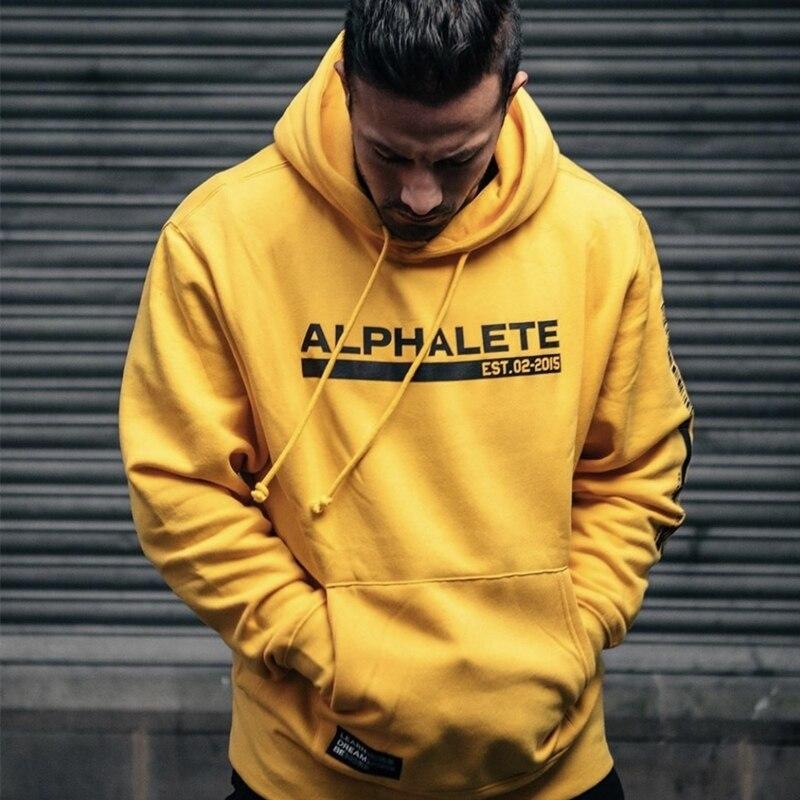 2020 Men Training Hoodies Autumn Fashion Tracksuit Fleece Sweatshirt Men