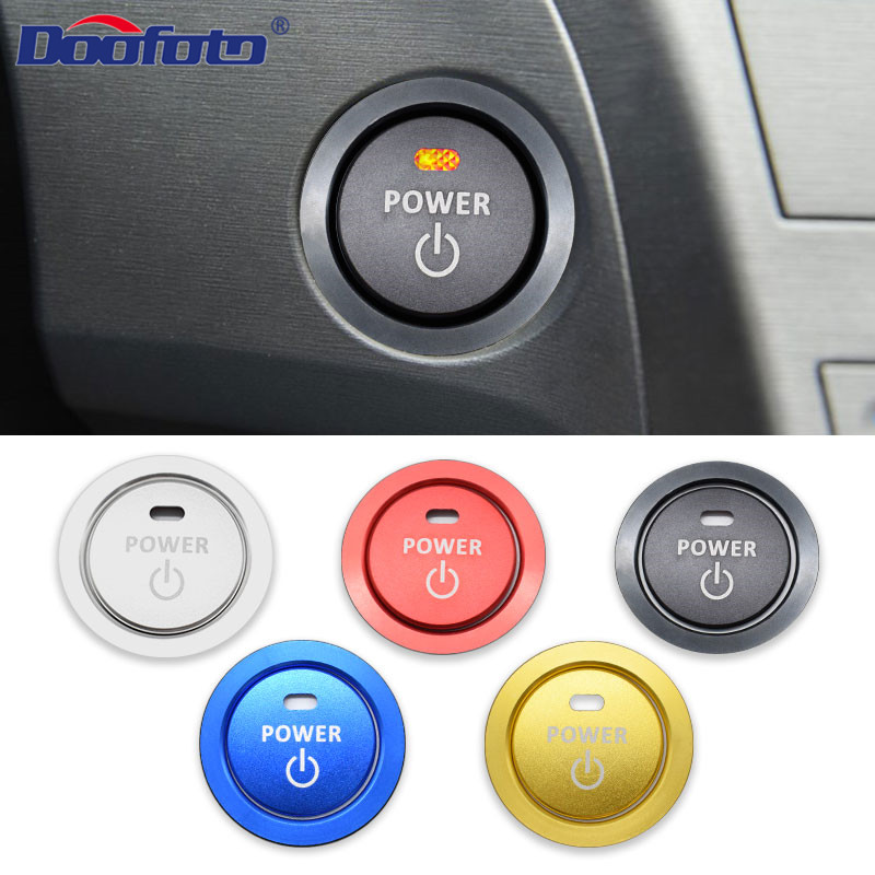 Car Styling Stickers Auto Accessories Start Stop Engine Power Button Ring Case Fit For Toyota C HR Corolla Auris Prius Chr Cover