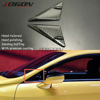 Real Dry Carbon Fiber For Lexus RC 200 300 350 RC F SPORT 2015 2019 Car Accessories Front Window Triangle Cover Trim