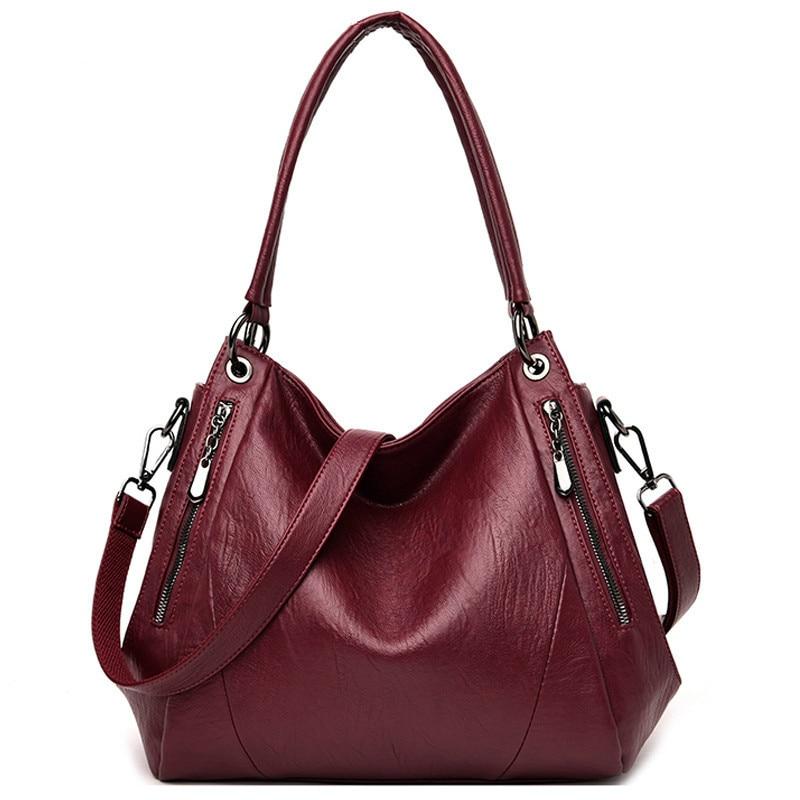 Crossbody Bags For Women Soft Leather Luxury Handbags Women Bags Designer Female Shoulder Messenger Bag Totes Top-handle Bag Sac