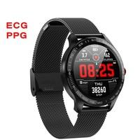 L9 ECG PPG Smart Watch Men Sports Heart Rate Bluetooth Smartwatch Waterproof IP68 Blood Pressure Oxygen Leather Watch Women