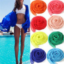 Musim Panas Wanita Pakaian Renang Bikini Cover Up Baru Sexy Beach Cover Up Musim Panas Bikini Cover-Up Wrap Daoble Pantai gaun Rok Handuk(China)