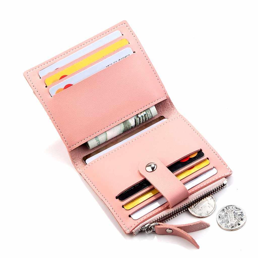 กระเป๋าสตางค์กระเป๋าสตางค์ผู้หญิงน่ารักแฟชั่น Hasp กระเป๋าถือเหรียญหญิงคลัทช์เงินกระเป๋าหนัง PU หนังกระเป๋า