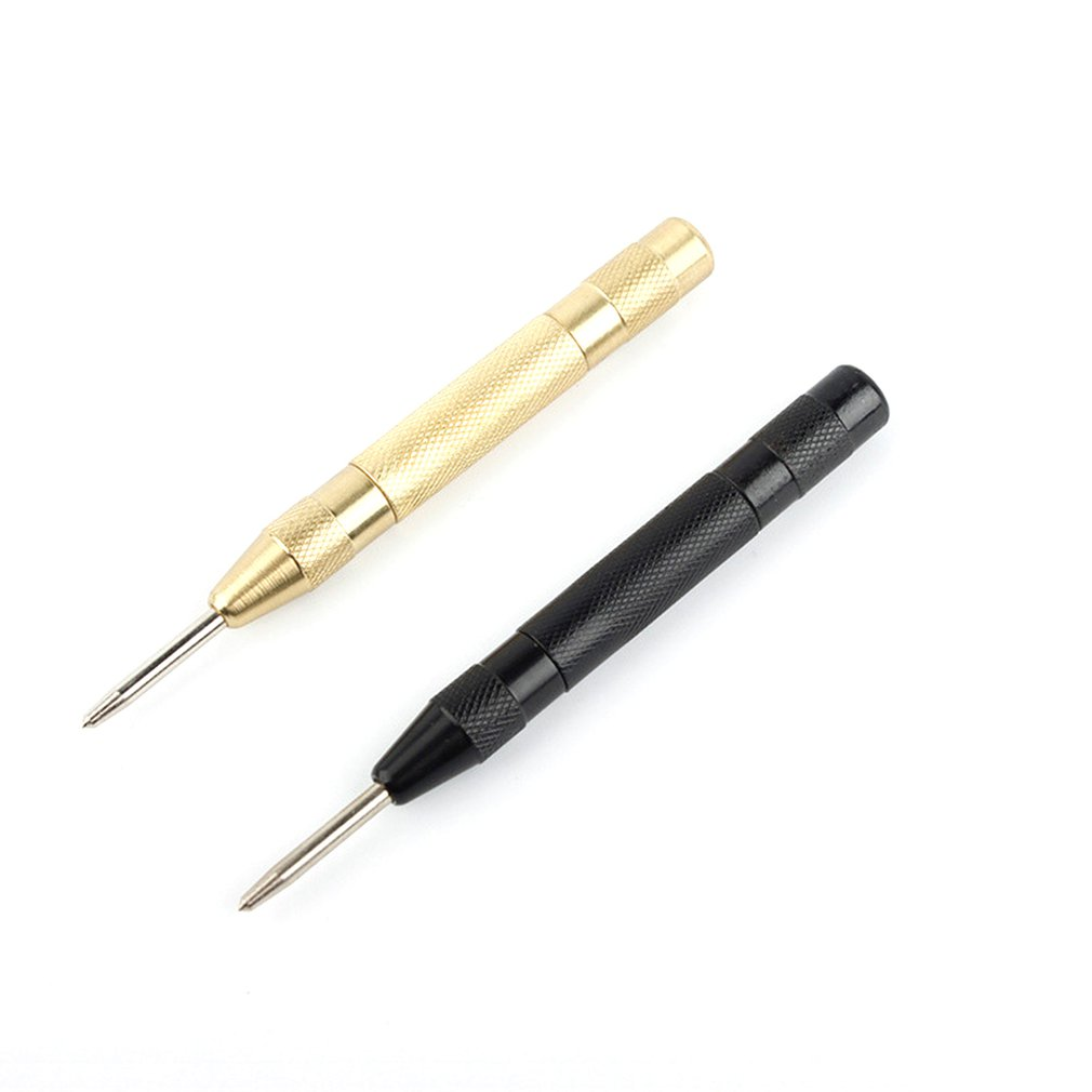 Automatic Spring Type Center Punch Locator Brass Glass Striker Window Smasher Punch Punch