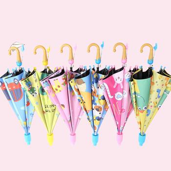 Parasol dla dzieci piękny deszcz parasole przeciwsłoneczne kreskówka jednorożec parasol dzieci Rainbow parasole półautomatyczne tanie i dobre opinie Koszulka męska z długim uchwytem parasol 190 t nylon fabric