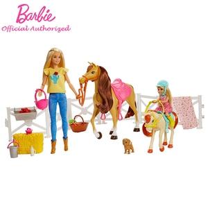 Original Barbie Dolls And Hors