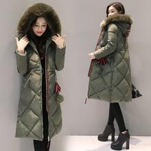 Women Parkas Winter jacket Warm Thicken Long Hooded Cotton Padded Causal Female Big Fur Jacket Coat M-3XL