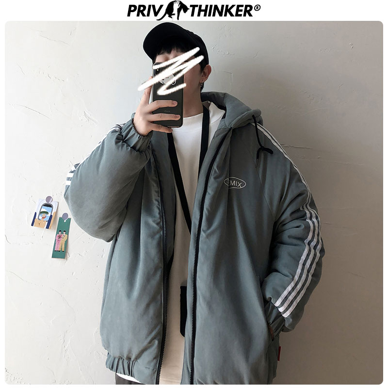Privathinker Men 2019 8 Colors Winter Warm Fashion Jackets Parkas Male Hooded Loose Coats Outwear Mans Thicken Jacktes Clothing