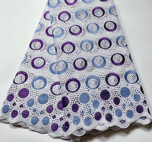 New Arrivals Swiss Voile Lace In Switzerland High Quality African Dry Lace Fabric 100% Punch Holes Cotton Lace For Party HSH070(China)