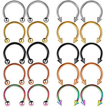 Fake Septum Piering Nose Rings Faux Nose Septum Ring Non Piercing Clip On Nose Hoop Rings Body Jewelry(China)