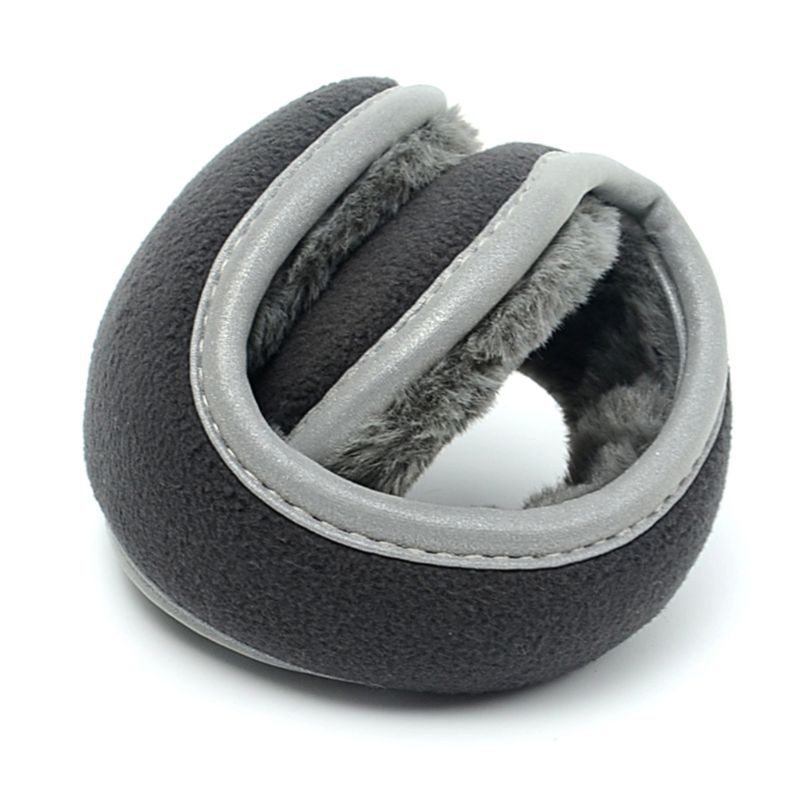 2019 Unisex Winter Polar Fleece Earmuffs With Reflecitve Strip Plush Lining Ear Cover