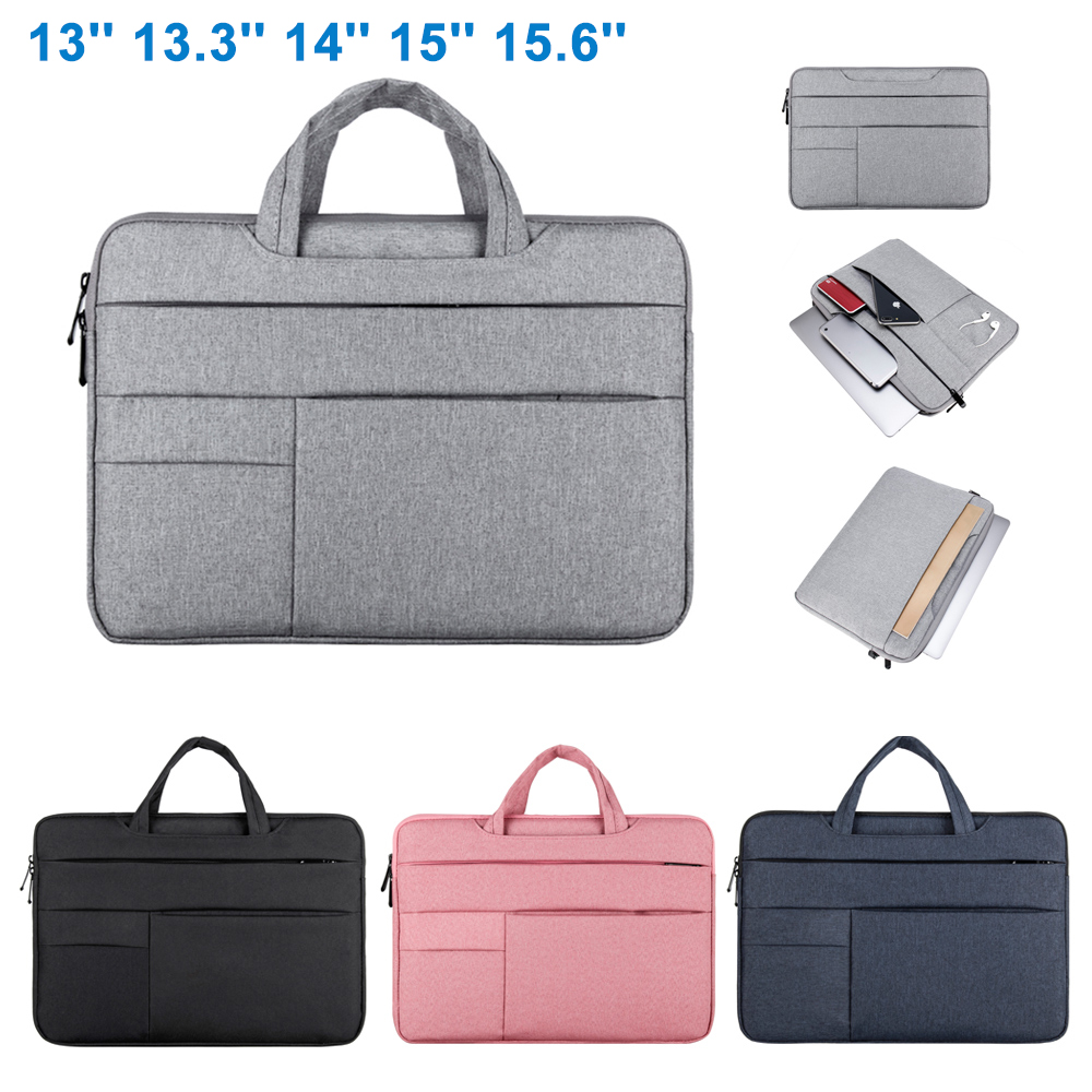 Laptop Bag For Macbook Air Pro 13 13.3 14 15 15.6 Inch Universal Notebook Bags Dustproof Portable Briefcase For Xiaomi Air Dell