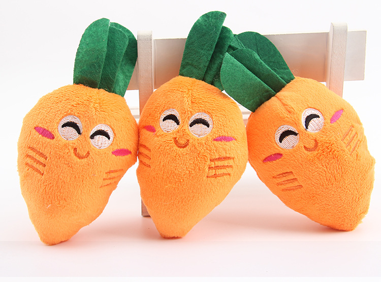Baby plush toy banana carrot sound toys image