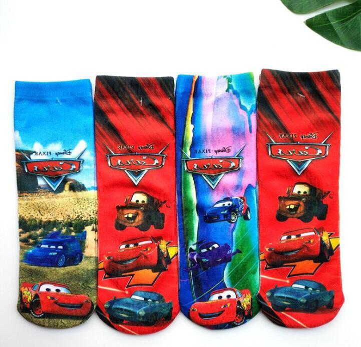 Cartoons Design Kids Mid-Length Socks Frozen Elsa Anna Princess Sofia Cars Mickey  Children Favorite Socks 1