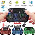 Беспроводная мини-клавиатура 2 4 ГГц  портативная сенсорная клавиатура  мышь  комбинированная Трехцветная подсветка  мультимедийная клавиа...