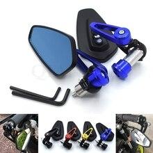 Universal 7 / 8''22mm motorcycle CNC aluminum handlebar end mirror For Honda GROM CBR250R CBR300R CB300F FA CBR500R CB500F X cnc levers for cbr500r cb500f 13 18 cbr300r cb300f 14 17 grom msx125 14 18 cbr250r 11 13 long short brake clutch levers
