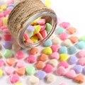 100 шт. разные яркие цвета акриловые сердца spacer Бусины для изготовления ювелирных изделий DIY Аксессуары
