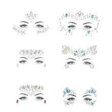 6 Sets Women Mermaid Face Gems Glitter,Rhinestone Rave Festival Face Jewels,Crystals Face Stickers,Eyes Face Body Temporary Tatt(China)