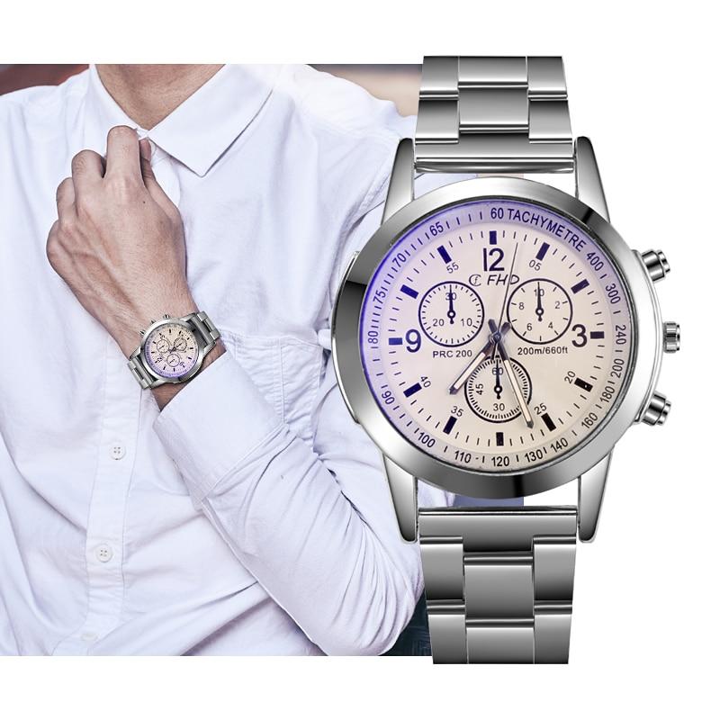 Men Watches Business Quartz Top Brand Luxury Waterproof  Men's Stainless Steel Clock Auto Date Wristwatches Relogio Feminino