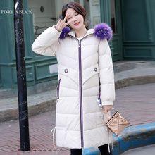 цена на PinkyIsBlack Big Fur Winter Coat Female Jacket New 2019 Hooded Long Parkas Warm Winter Jacket Women Wadded Ladies Plus Size 2XL