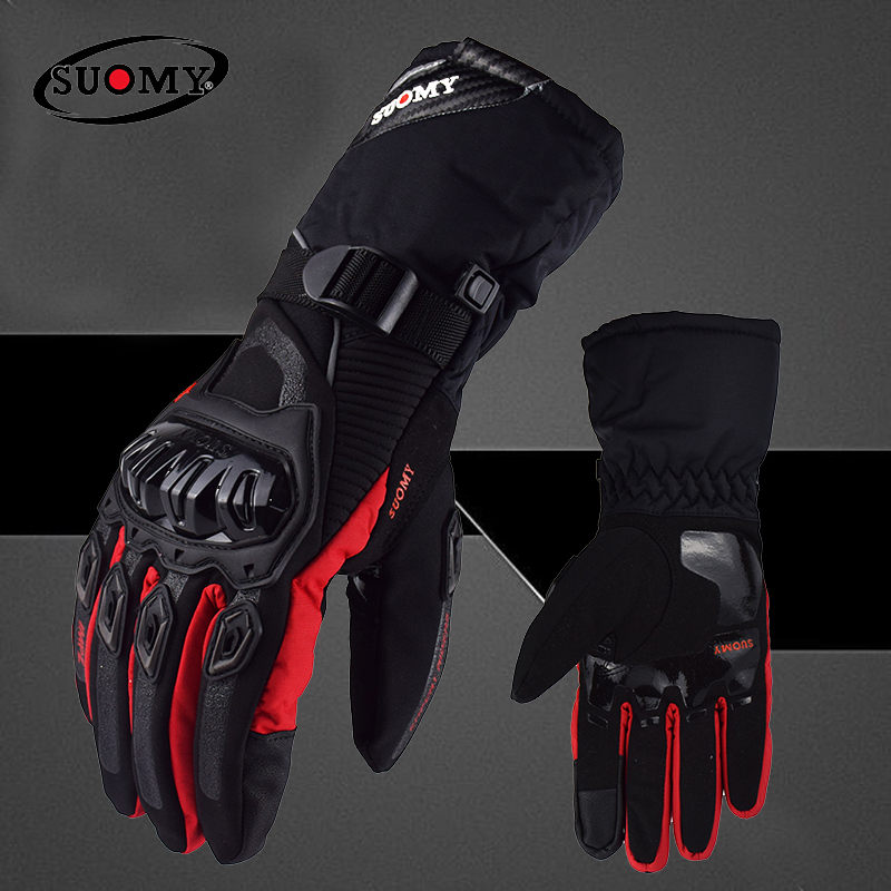 Зимние теплые Мотоциклетные Перчатки SUOMY 100%, водонепроницаемые ветрозащитные мотоциклетные перчатки для мотокросса, мотоциклетные перчат...
