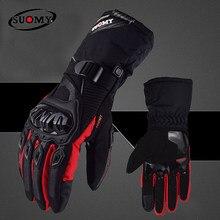 SUOMY-Guantes cálidos de invierno para motocicleta, resistentes al viento, para Motocross, pantallas táctiles, Eldiveni, 100%